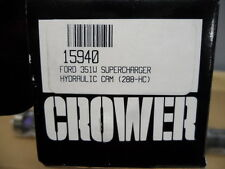 Crower 15940 Hydraulic Flat Tappet Camshaft Ford 351W Superchager With Lifters