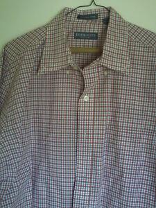 MENS  LYLE & SCOTT SCOTLAND  PLAID  DRESS SHIRT    L