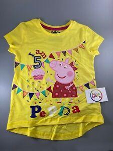 PEPPA PIG birthday yellow age t-shirt top photoshoot I AM 1 2 3 4 5 6 Gift