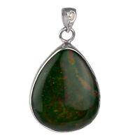 925 Sterling Silver Blood Stone Pendant jewelry 6.98g women jewelry