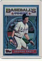 1993 Topps Finest #63 George Brett Kansas City Royals Baseball Card