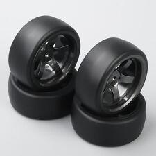 4X 12mm Hex RC Car Drift Tires&Wheel Rim For 1/10 On-Road Racing Car  D5M+PP0477