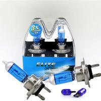 H7 55w SUPER WHITE XENON (499) Head Light Bulbs 12v + T10 w5w sidelights ELITE C