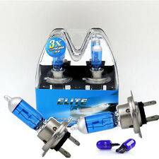 H7 55w SUPER WHITE XENON (499) Head Light Bulbs 12v + T10 w5w sidelights ELITE C