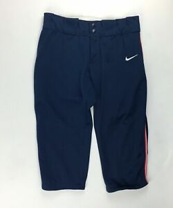 Nike Modified All Out 3/4 Fastpitch Softball Pant Women's M Navy 453382