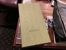 Gucci Green Empty Gift Storage Shoe Box w/ Tissue Paper Care Card 12.5 x 7 x 5
