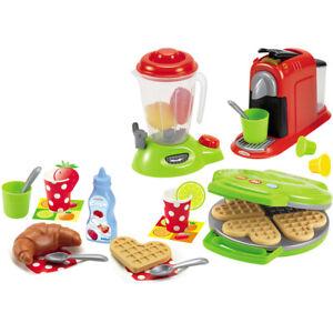 Ecoiffier Kinder Küchengeräte Kaffeemaschine Waffeleisen Mixer Zubehör Spielzeug