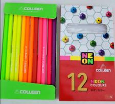 1 set COLLEEN NEON 12 Color Pencils Set Kid Art Craft Drawing Sketch Non Toxic