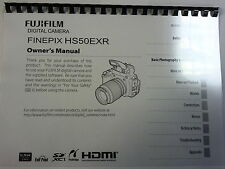 FUJI FUJIFILM FINEPIX HS50EXR PRINTED INSTRUCTION MANUAL USER GUIDE 140 PAGES A5