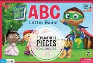 Super Why ABC Letter Board Game Replacement Pieces - Choose What You Need