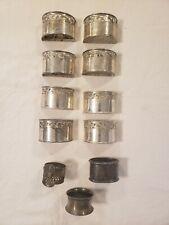 Lot Of 13 Vintage Silver plated Napkin Rings Garcia Reno Nevada