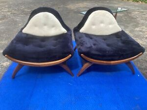 Vintage Adrian Pearsall Like Large Gondola Chairs Excellent! All Original