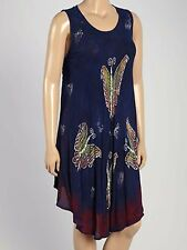 One Size Fits Most  L, XL,1X  Dress Cover Up  Butterfly Navy  NWT  L, XL,1X