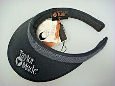 NEW TAYLOR MADE LADIES SPLIT CLIP BLACK GOLF VISOR W/CHECKERED HEADBAND B555