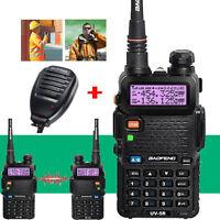 BAOFENG UV-5R Dual Band UHF/VHF Two Way Ham FM Radio+Speaker Mic Walkie Talkie