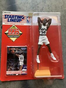 STARTING LINEUP 1995 DAVID ROBINSON SAN ANTONIO SPURS NBA BASKETBALL FIGURE+CARD