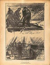 le Dragage des Mines Babord Bord Marine Nationale Charles Fouqueray 1914 WWI