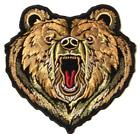 "WILD BEAR HEAD PATCH P8930 jacket 4"" BIKER EMBROIDERED NEW animals bears new"