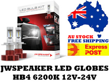 JW Speaker HB4 LED Headlight Globes 12V & 24V - Free Express Post