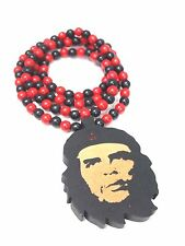 New Hip-hop fashion good wood nyc Necklace Che Guevara