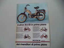 advertising Pubblicità 1980 MOTRON 50 RA G1/SV3 R/GL4 GL 4/RA SV