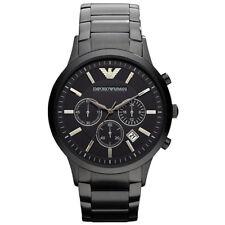 Reloj Cronógrafo nuevo Original Emporio Armani Chapado Ion NEGRO-AR2453 PVP £ 389