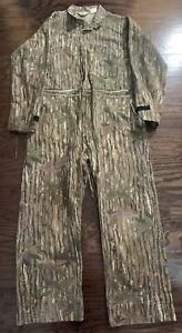 Vintage Walls Camo Camoflage Treebark Hunting Suit Coveralls Mens Large Tall Vtg