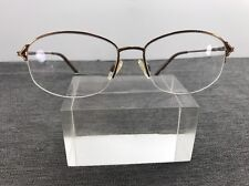 20c9f4540c Sophia Loren Eyeglasses M183 52-15 141 Zyloware Gold Flex Hinge Half  Rimless A23