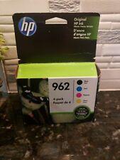 4 Pack HP 962 Black + Tri Color Ink Cartridge exp Dec 2021