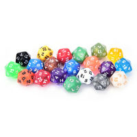 1PC D20 gaming dice twenty sided die number 1-20 for RPG game ATCA
