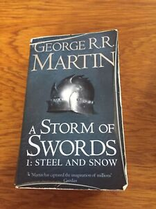 Storm Of Swords 1 Steel And Snow By George R R Martin Softcover Game Thrones
