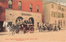 1910 Pioneer Engine Co. #2 House Cor. So. Main & Coin Sts Providence RI postcard