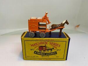 Matchbox Lesney 1-75 Series 7A Horse Drawn Milk Float Boxed