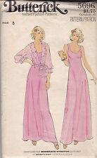 Vintage Butterick Misses Dress & Jacket Sewing Pattern, #5696, Size 8 Unused