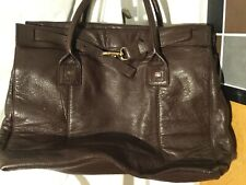 Gloria ortiz extra large genuine dark brown leather tote
