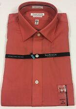 Van Heusen Dress Shirt Wrinkle Free Peach Long Sleeve 16 34/35 NWT Men