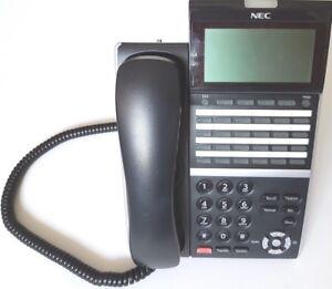 2x NEC DTZ-24D-3A(Bk) tel DT400 series 12 months w/ty. Tax invoice