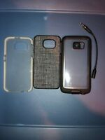 Lot Of 3pc Lifeproof Case,Adopted Case,Tech21 Clear Case for Samsung Galaxy S6