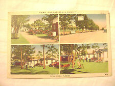 old postcard- CAMP GORDON, VERO BEACH, FL 1940