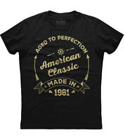 American Classic Made in 1961 Mens Short Sleeve New Cotton Black T-shirt