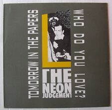 """THE NEON JUDGEMENT (Maxi 45T 12"""") TOMORROW IN THE PAPERS"""