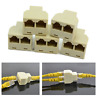 Splitter Extender Plug adapter RJ45 1 to 2 LAN ethernet Network Cable connector