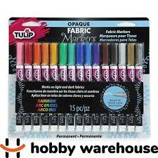 Tulip Opaque Fabric Markers 15/Pkg-Assorted