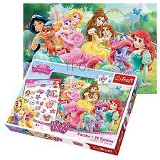 Trefl puzzle 100 pièces +20 tatouage filles disney princesses & friends ariel jigsaw