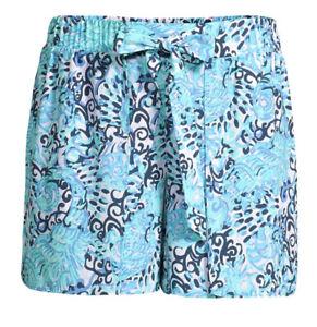 Lilly Pulitzer Mylee Tie Front Shorts Light Aqua Spritz Size 2 blue turquoise