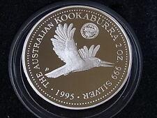 Australia. 1995  2oz - Silver Kookaburra.. Canberra Florin Privy.. Proof  Cased
