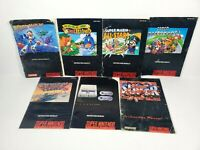 Super Nintendo SNES Original Manual Lot of 7 Mega Man X Mario Kart All Stars