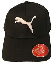 620980da7ef PUMA Black Evercat Dillion Stretch Fit Cap Hat Curved Bill Small medium