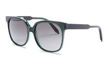 VICTORIA BECKHAM Square Women Sunglasses VBS104 Green Black Grey Gradient 140mm