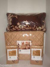 Martha Stewart Bedford Flowers Full Queen Quilted Coverlet Sham Pillow Fall Gold